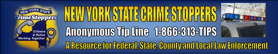 New York State Crime Stoppers   24/7 Hotline: (866) 313-TIPS