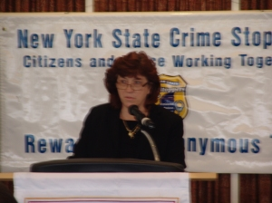 Colonel Patricia Groeber, NYSP Speaking at the NYS Crime StoppersTraining Luncheon