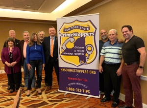 Members of the NYS Crime Stoppers Board of Directors and guest speaker Peter McNulty, NY State Trooper and Senior Investigator, Criminal Intelligence Unit.