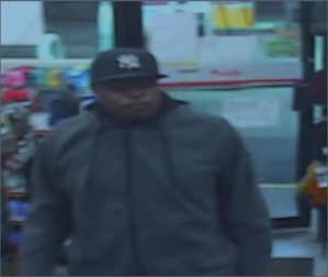 Alternate security footage of one of the suspects in the Feb. 1, 2020 Shell station robbery.
