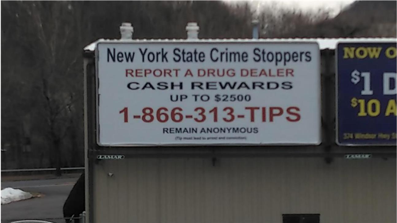One of several Drug Program billboards erected throughout New York